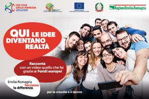 """Banner campagna """"Qui le idee diventano realtà"""""""