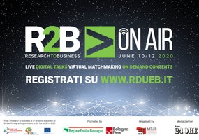 L'Europa a Research To Business 2020, al via R2B On Air