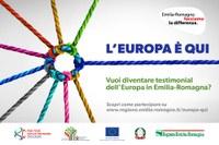 L'Europa è QUI: diventa testimonial dei Fondi europei in Emilia-Romagna