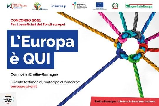 L'Europa è QUI: al via il voto online del concorso per i beneficiari dei Fondi europei